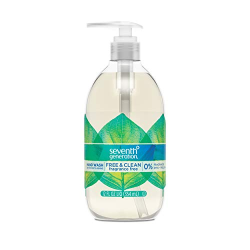(Seventh Generation Hand Wash Soap, Free & Clean Unscented, 12 Fl Oz, (Pack of 8) ( Pack May Vary ))