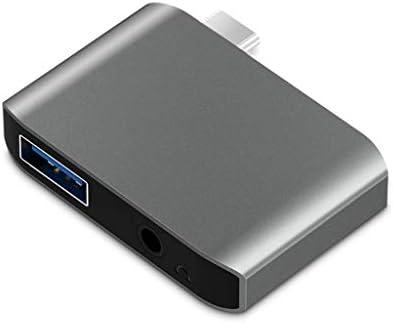 SpLYJ Convertidor USB 3.0 USB-C a Tarjeta de Audio para ...