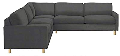 The Heavy Duty Cotton Karlstad Corner Sofa Cover ( 2+3 / 3+2 ) Replacement, Is Custom Made for Ikea Karlstad Sectional Slipcover Replacement