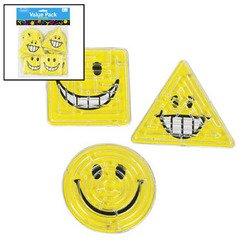 SMILE FACE PILL PUZZLES (6 DOZEN) - BULK