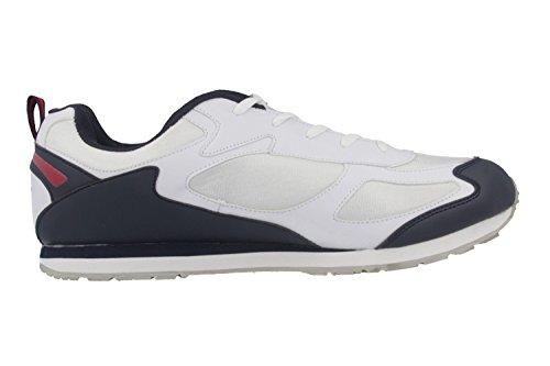Lico - Zapatillas para deportes de interior de material sintético para hombre blanco blanco