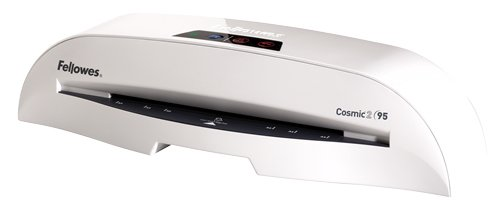 Fellowes Laminator Cosmic 2 95, 9.5 Inch Laminating Machine, with Laminating Pouches Kit (5725601)