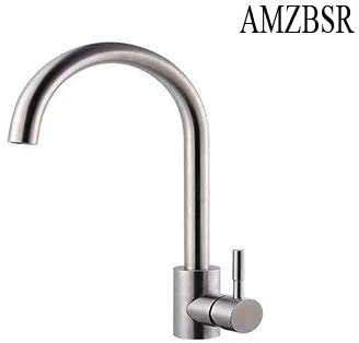 Stainless Steel 304 Body Brushed Nickel Finish 100/% Lead-Free Drinking Water Faucet Fits most Reverse Osmosis Units or Water Filtration System in Non-Air Gap ESOW Kitchen Water Filter Faucet