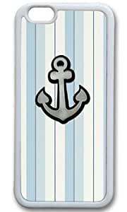 Anchor On Light Color Stripe DIY Rubber White iphone 4 4s Case On Custom Service