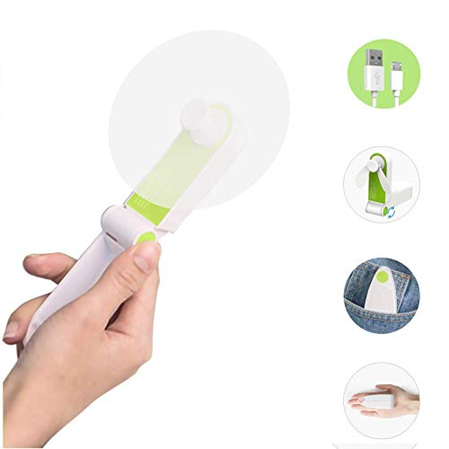 2019 Mini Handheld Fan USB Rechargeable Fans 2 Adjustable Speeds Portable Folding Fans for Home, Travel, Camping, Office, Outdoor (Handheld-Single Head)