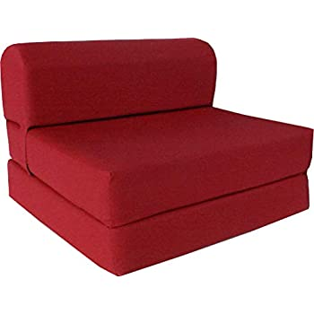 Amazon Com 6 Quot Thick X 36 Quot Wide X 70 Quot Long Twin Size Red