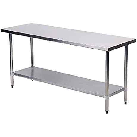Mr Direct Stainless Steel Work Table Commercial Kitchen Restaurant 24 X 72