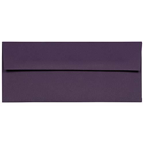 JAM PAPER #10 Business Premium Envelopes - 4 1/8 x 9 1/2 - Dark Purple - 50/Pack]()