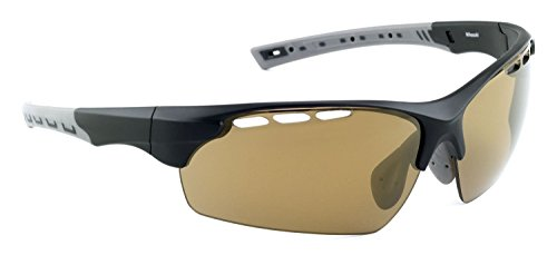 Prolight Mikasuki Polarized Sunglasses with Carrying Pouch (Take-sumi, Mirror-Coated Bronze)