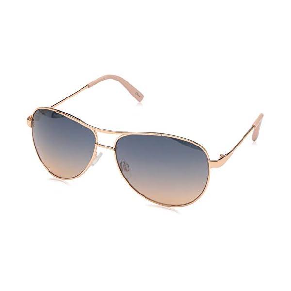 Jessica Simpson Women's J106 Rgld Non-Polarized Iridium Aviator Sunglasses,...
