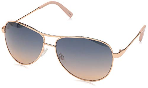 Jessica Simpson Women's J106 Rgld Non-Polarized Iridium Aviator Sunglasses, Rose Gold, 60 ()