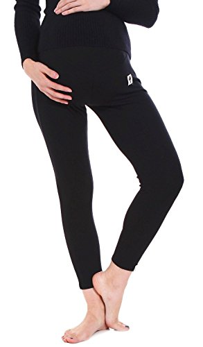- MNLYBABY Pregnant Women Cotton High Waist Stretch Leggings Warm Thick Pants Size US L/Tag XL(Black)
