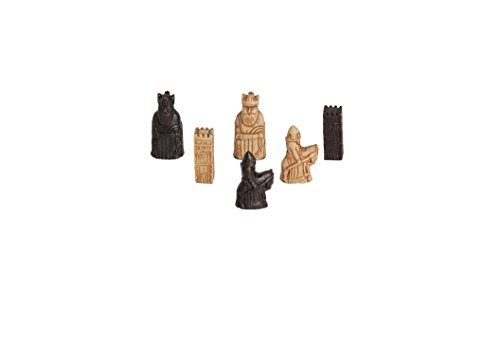 The Mini Isle of Lewis Antiqued Chess - Polyresin Piece Chess