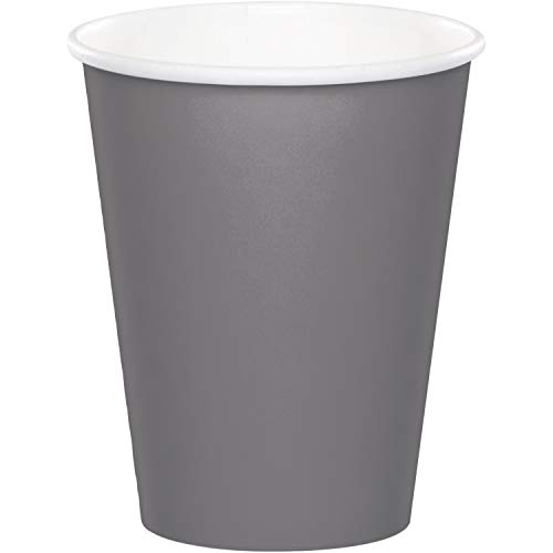 Creative Converting 339647 HOT/COLD CUPS 9OZ, 9-oz, 24 ct, Gray