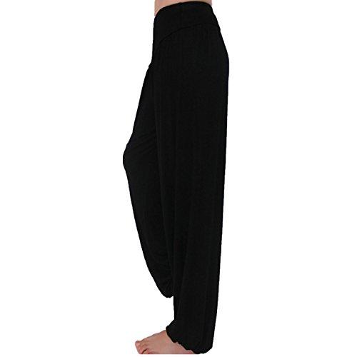 Xl size Yoga Elastico Pilates Nero Fitness Workout Meishine Jogging Danza Donna Harem Sportivi Modal Pantaloni Wfq0xH7Ow