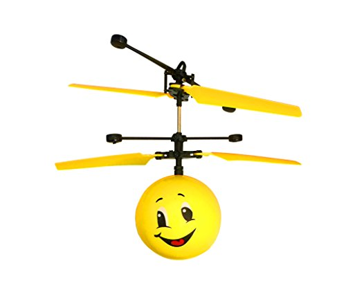 Emoji Flying Helicopter Drone Infrared Hand Controlled Game RC Toys...