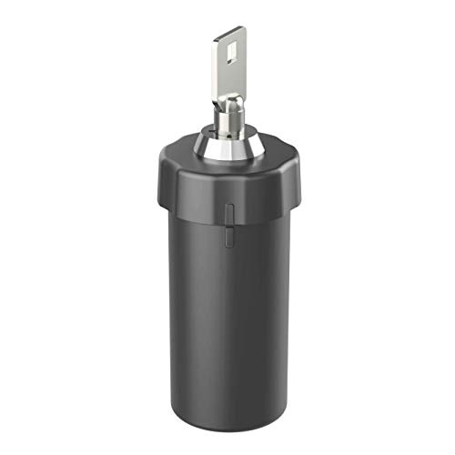 Ezy Dose Ezy Dose Locking Container │Secure Small Valuable Items │Durable Nylon Canister Locks with Key, Large, Black