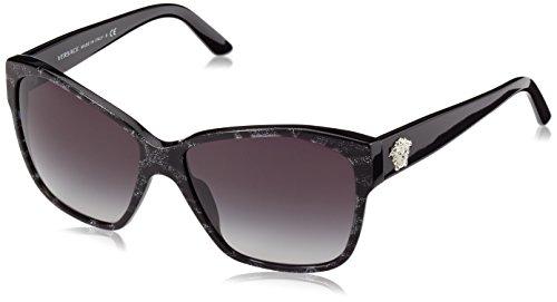 Versace Sunglasses VE4277 51368G Animalier Black/Black Grey Gradient 60 15 - Sunglasses All Black Versace