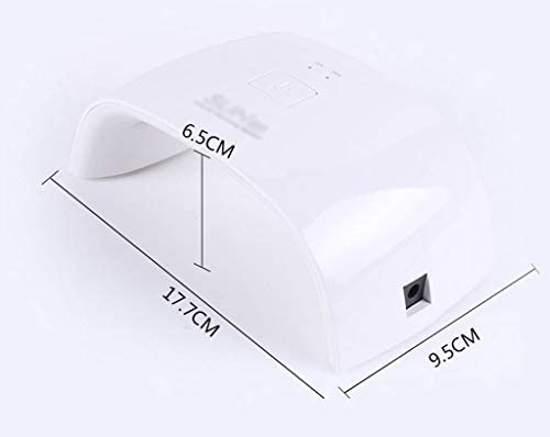 主導ネイルランプ、ポータブルミニ18ワットネイルライト自動センサー付きLED 9 USB充電ネイル硬化ライトプロフェッショナルネイルアートツールネイルランプドライヤー (Color : Pink)