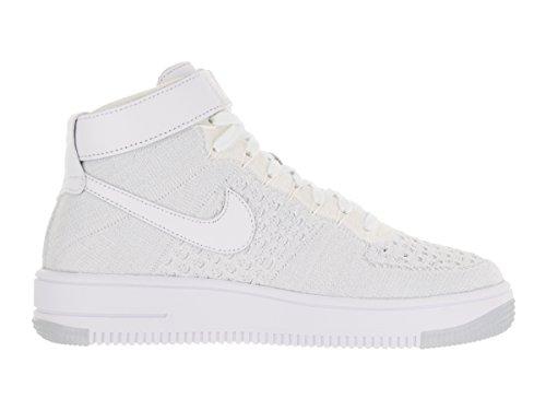 Blanc Nike Femme Cassé W Blanco de White White Chaussures Flyknit Sport Af1 Platinum pure ggqr0w