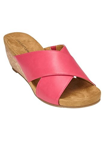 Comfortview Womens Wide Sheba Sandals Passion Pink K93Im