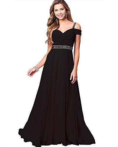 Roiii Womens Floral Lace Embroidered Bridesmaid Wedding Cocktail Maxi Party Prom Dress Chiffon Short Sleeve Plus Size Dress (X-Large, Black)