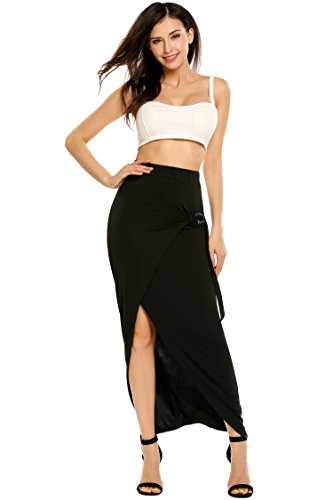 Women Breathable Fashion High Waist Maxi Skirt Long Skirt