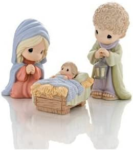 Precious Moments Come Let Us Adore Him Standard Holy Family