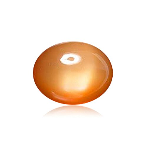 - Mysticdrop 2.35-3.80 Cts of 10x8 mm AAA Oval Cabochon Peach Moonstone (1 pc) Loose Gemstone