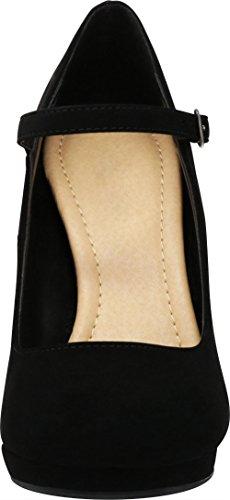Heel Nbpu Jane Dress Pump Black Women's High Strap Buckle Mary Cambridge Select Cushioned w7zxFqzC