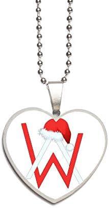 Alan Walker アラン・ウォーカー ネックレス メンズ アクセサリー チタン 贈り物 金属アレ 文字刻印・名入れ無料 バレンタインの贈り物 誕生日プレゼント