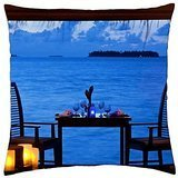 - Beautiful Romantic Dinner by the Sea - Throw Pillow Cover Case (18