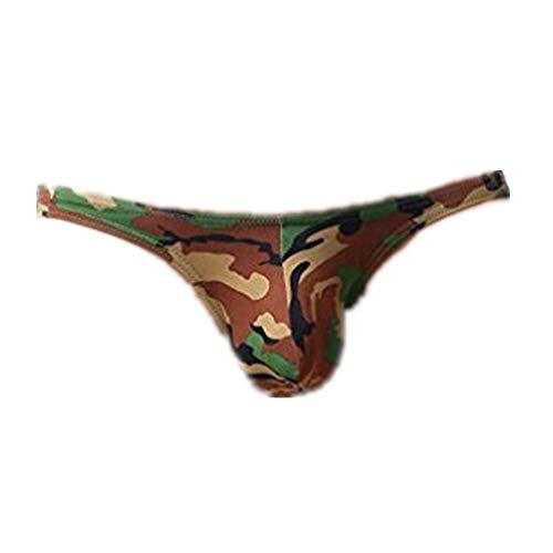 Mens Underwear ! Charberry Mens Camo Gravity Triangle Briefs Fashion Mens Briefs Underwear Bulge Camouflage Print Sports Underpants (US-S/CN-M, Green)