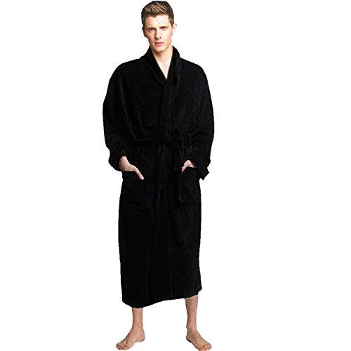 Godsen Men's Winter Thick Cotton Bathrobes (S, (Glamour Nightgown)