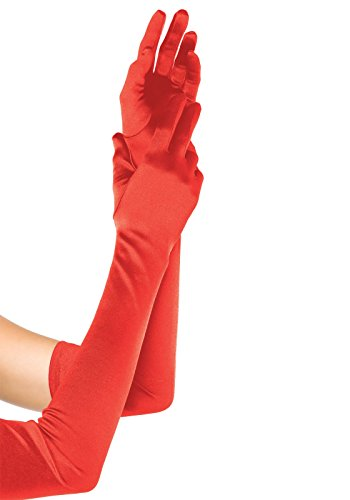 Leg Avenue Women's Long Satin Gloves, Red, One Size]()