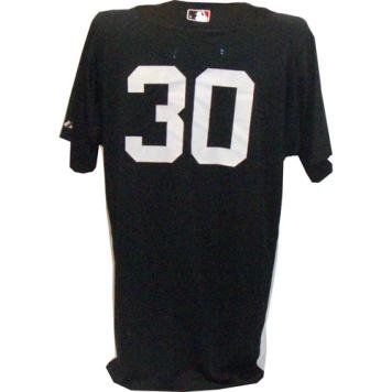 timeless design 4c05b 82abf Amazon.com : #30 Yankees Game Used Home Navy Spring Training ...