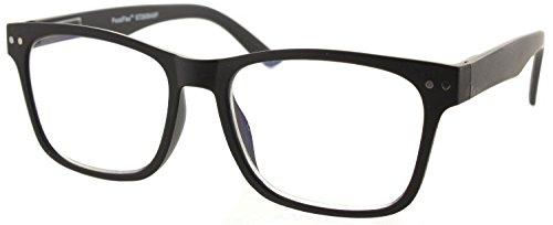 Fiore Multi Focus Progressive Reading Glasses 3 Powers in 1 [Matte Trendy - Black, 2.00]