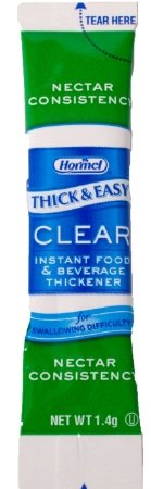 Thick And Easy Clear Nectar Consistency Instant Food And Beverage Thickener Sticks  1 4 Gram    100 Per Case