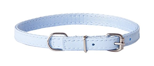 Dingo Basic Dog Collar with Metal Clasp Delicate and Durable Handmade Blue 13085