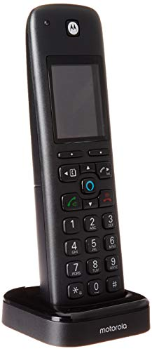 Motorola AXH01 AX Series DECT 6.0 Cordless Digital Phone and Answering System with Built-In Alexa (1 Handset) from motorola