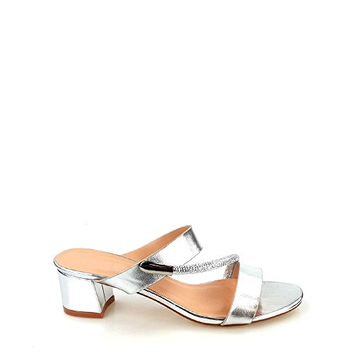 Miss pour Diva Femme silver Mules aaFqzA