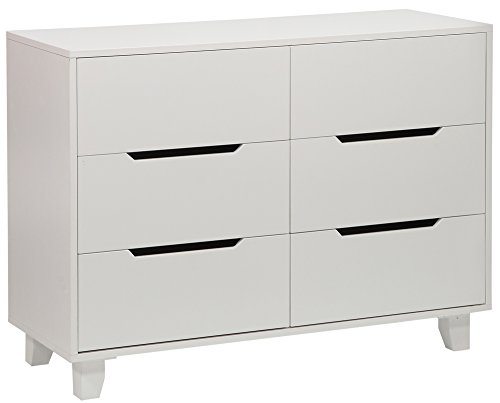Angel Line Madison 6 Drawer Double Dresser, White