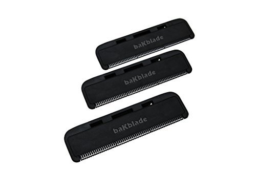 """BaKblade 1.0 """"Bigmouth"""" Back Hair & Body Shaver Refill Replacement Cartridges. 4"""" Extra-Wide Wet or Dry Disposable Razor Blades (3 Razors Included) by baKblade (Image #5)"""