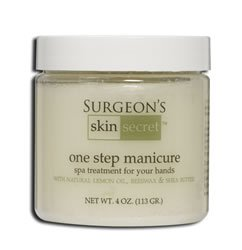 Manicure Balls - Surgeon's Skin Secret One Step Manicure/Pedicure, Lemon, 4 Ounce