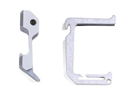 Dango Products Tumbled Aluminum Loop Hook with Aluminum Wall Mount