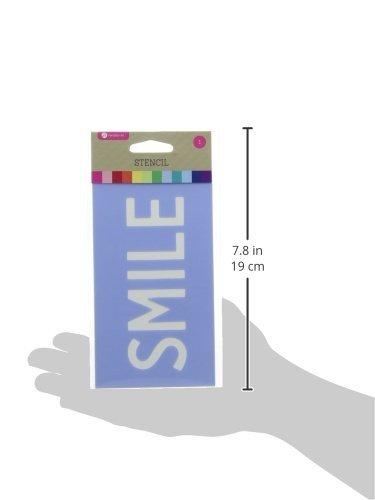 Stencil 3.5''X6''-Smile by Hampton Art (Image #2)