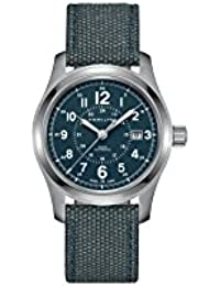 Khaki Field Auto H70605943 Blue / Blue Nylon Analog Automatic Men's Watch
