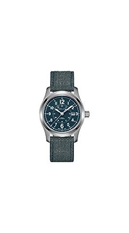 Hamilton Khaki Field Auto H70605943 Blue / Blue Nylon Analog Automatic Men's Watch (Hamilton Khaki Field Automatic)