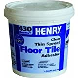W.W. Henry Company HEN430Q ClearPro Vinyl Composition Tile Floor Adhesive, 1 qt Container