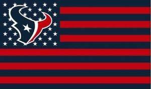 Houston Texans Stars and Stripes NFL Flag Banner - 3X5 FT - Red USA Flag